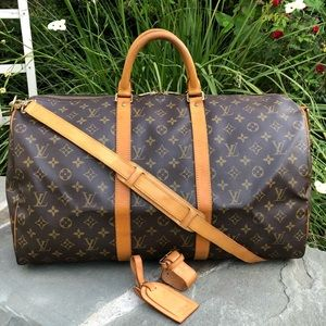 💯LV Keepall Bandouliere 50 W/STRAP & ACCESSORIES